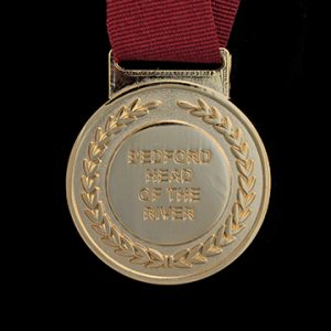 Bedford Rowing Club sports medal - 50mm gold frosted polished sports medal - Medals UK