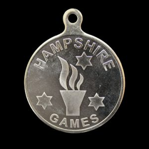 Hampshire Games sports medal - 50mm Silver minted sports medal - by Medals UK