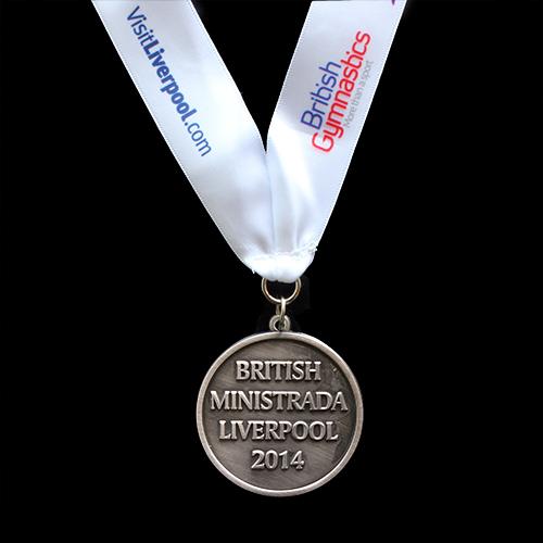 British-Ministrada-2014-50mm-Silver-Antique-Finish-Sports-Medal