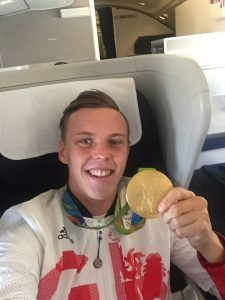 Joe Clarke posts social media pic on plane home as Team GB Bring on the Great