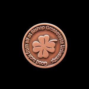 Bishop Grosseteste Good Luck Commemorative Coin - 20mm bronze antique finished Commemorative Coin by Medals UK