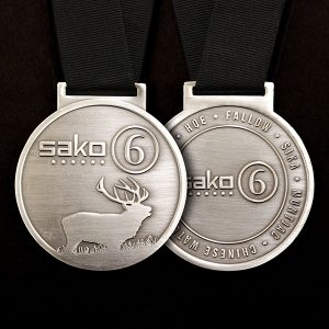 Sako 6 Commemorative Medal Front and Back