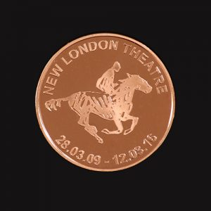 Custom Made War Horse Commemorative Coin to celebrate the show's record breaking success at the New London Theatre