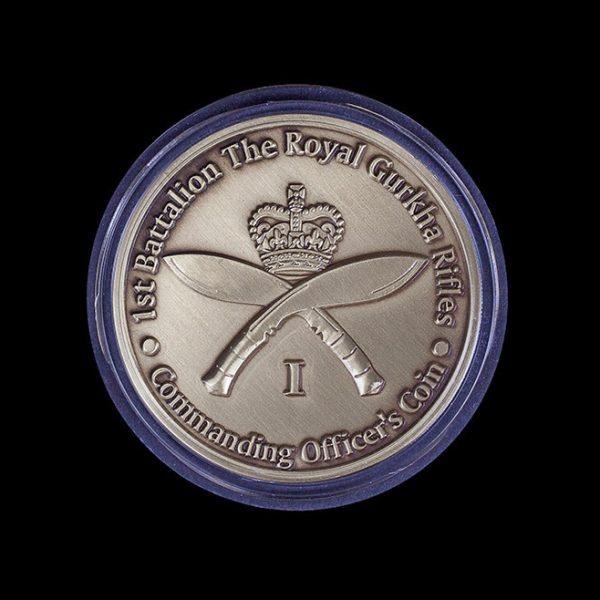 1st Battalion The Royal Gurkha Rifles 50mm Gold Commanding Officer's Coin Award
