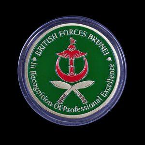 1st Battalion The Royal Gurkha Rifles 50mm Gold Commanding Officers Coin Award