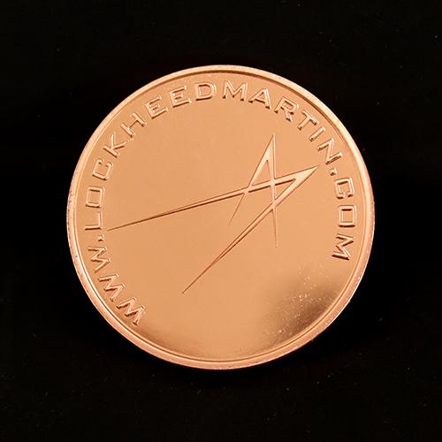 38mm Bronze Minted Bright Commemorative Coin Lockheed Martin