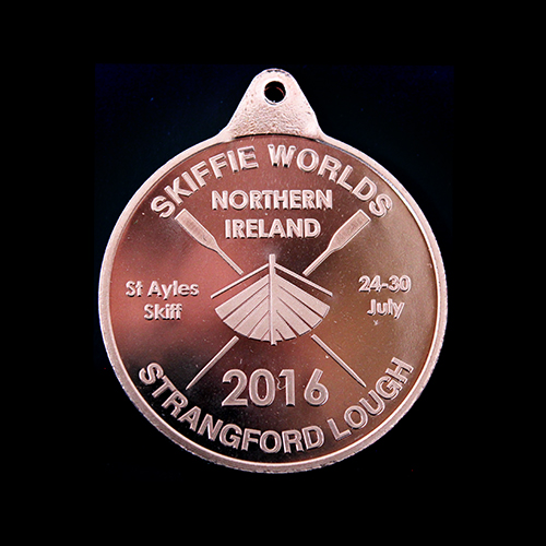 Skiffleworlds Winners Medals - 38mm Bronze Minted Bright Sports Pendant for 2016 event reverse