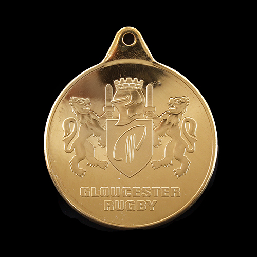 38mm-Gold-Minted-Bright-Sports-Pendant-Gloucester-Rugby