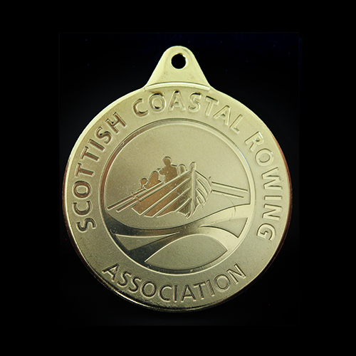 Silver & Bronze Skiffle World Championship Medals produced for Scottish Coastal Rowing Association