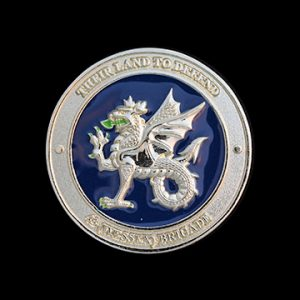 43 Wessex Brigade 50mm Enameled Silver Commemorative Medal