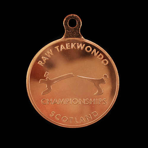 Raw Taekwondo Winners Sports Medals in silver produced by Medals UK
