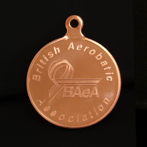 Bronze British Aerobatics Association Sports Medals produced by Medals UK
