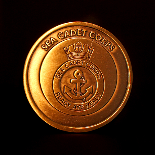 The 50mm Sea Cadet Corps Commemorative Coin to celebrate the Canada Trophy Winners