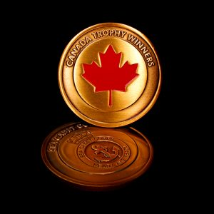 The 50mm Sea Cadet Corps Commemorative Coin was produced in gold to celebrate the Canada Trophy Winners