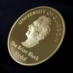 50mm Gold Semi-Proof Medal Brian Bluck Award Medal for University of Glasgow