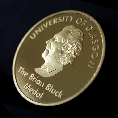 50mm Gold Semi-Proof Medal Brian Bluck Award Medal for University of Glasgow - Featured within Rewarding School Life Blog