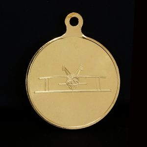 Gold British Aerobatics Association Sports Medals produced by Medals UK