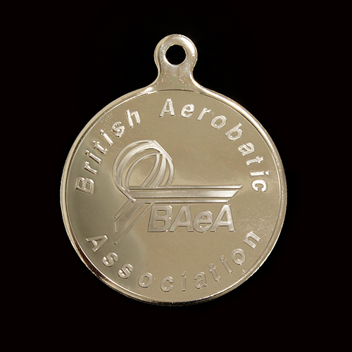 50mm Silver Semi-Proof British Aerobatics Association Sports Medals produced by Medals UK