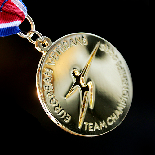 60mm Gold Polished Sports Pendant European Veterans Team Championships 2016 for British Veterans Fencing v2