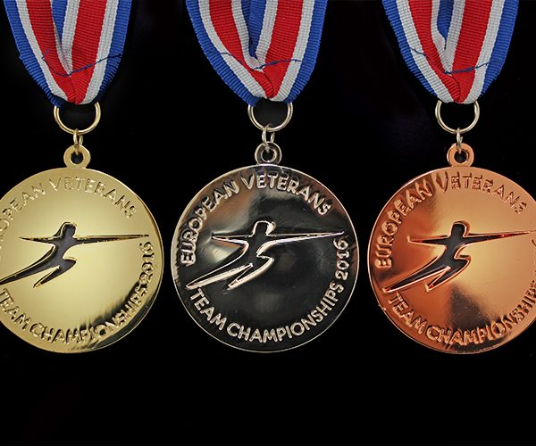 The 2016 European Veterans Fencing Team Championship Sports Medals were produced in gold