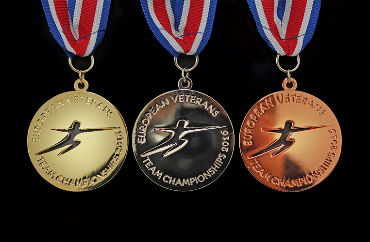 The 60mm European Veterans Fencing Team Championship Sports Medals were produced in gold