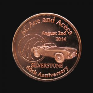 AC Ace 60th Anniversary Commemorative Coin - bespoke sports anniversary coin