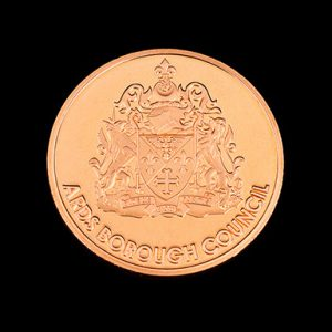 Ards Borough Council Anniversary coin - 38mm bronze minted 20 Years Service Commemorative Coin - by Medals UK-Obv