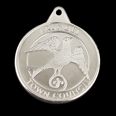 Arundel Town Council sports medal - commemorating the Queen's Diamond Jubilee - 38mm silver minted Anniversary Commemorative  Medal - by Medals UK