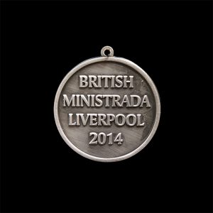 Custom made British Gymnastics medal - British Ministrada Liverpool 2014 - 50mm silver antique finish sports medal - Medals UK