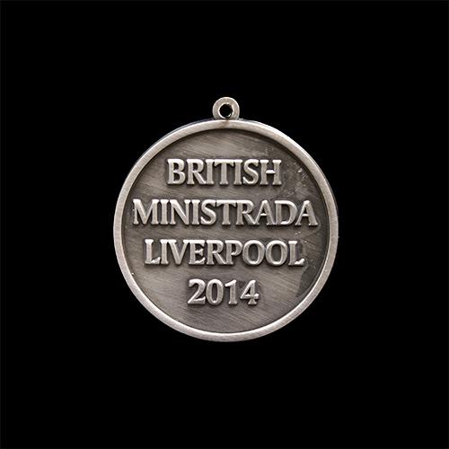 Custom made British Gymnastics medal - British Ministrada Liverpool 2014 - 50mm silver antique finish sports medal - Medals UK