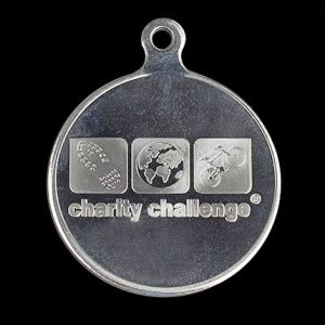 Charity Challenge Sports Medal - 50mm Silver Minted Commemorative Medal - by Medals UK