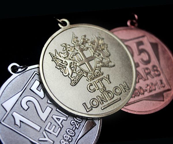 City of London Frosted Polished Sports Medal - 50mm gold World Cup Blog
