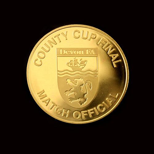Devon County FA Commemorative Coin in gold