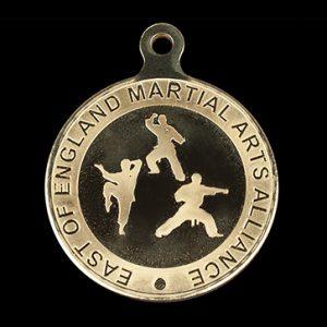 East England Martial Arts sports medal - 50mm Gold Minted Sports Medal - Medals UK