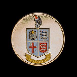 Eastern Junior Alliance FC Sports Medals - 60mm Gold Enamelled Polished Football League Sports Medal - Medals UK