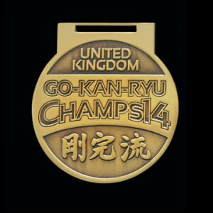 GKR National Champs 2014 65mm Gold Antique Finish Sports Medal