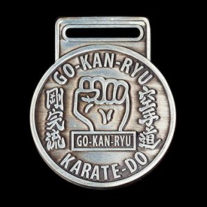 GKR Karate Club Sports Medals - 50mm gold antique personalised sports medal