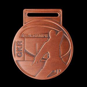 GKR National Champs 2010 - 65mm silver antique Karate UK Championships Custom Made Sports Medal - Medals UK