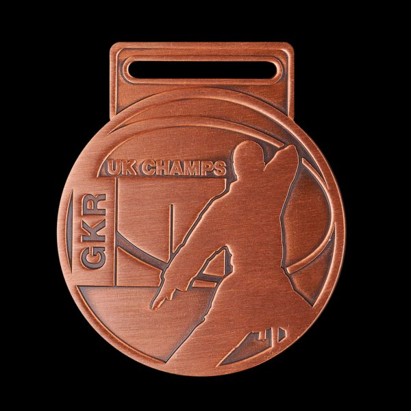 GKR National Champs 2010 - 65mm silver antique Karate UK Championships Custom Made Sports Medal - Medals UK