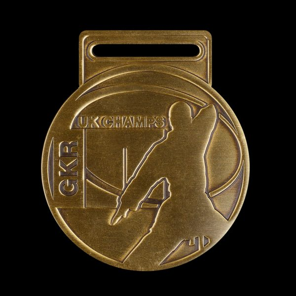 GKR National Champs 2010 - 65mm gold antique Karate UK Championships Custom Made Sports Medal - Medals UK