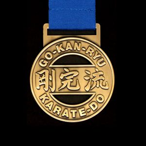 GKR Karate Regional Competition Medals with cutout in gold