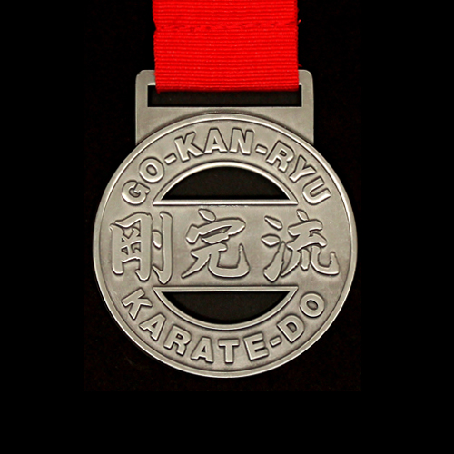 GKR Karate Regional Competition Medals with cutout in bronze