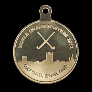 World Grand Masters 2012 50mm Gold Minted Oxford Sports Medal