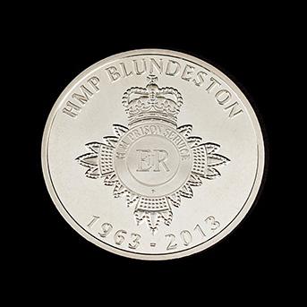 HMP Blundeston Anniversary Coin - Silver Minted 1963-2013 Anniversary Commemorative Coin