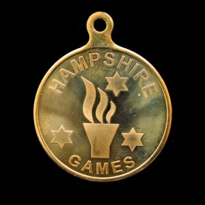 Hampshire Games sports medal - 50mm gold minted sports medal - by Medals UK