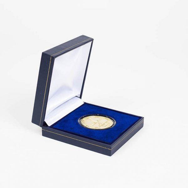 IWSC Competition 2006 Medal -  38mm gold frosted polished medal award in a blue leatherette case - International Wine & Spirit Competition Commemorative Medal by Medals UK