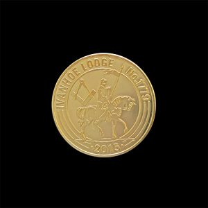 Ivanhoe Lodge 1779 Commemorative Coin 32mm Gold Minted - by Medals UK