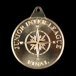 Junior Inter League final medals - 38mm gold/silver/bronze minted custom made winners swimming medals
