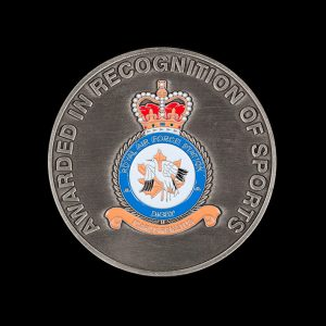 RAF Digby 70mm Silver Enameled Antique Joint Services Sports Medal-Rev