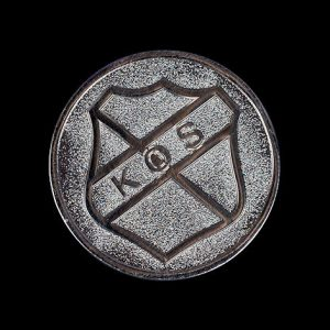 Kirk O Shotts Centenary Coin - 38mm Silver Enamelled Frosted Polished commemorative coin to celebrate 100th anniversary of the school - 1972-2012 - by Medals UK